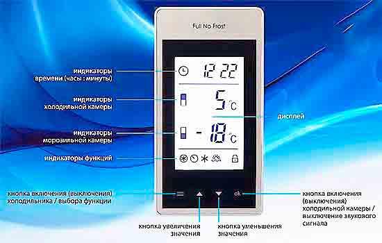 Электронный блок управления холодильника АТLАNT.