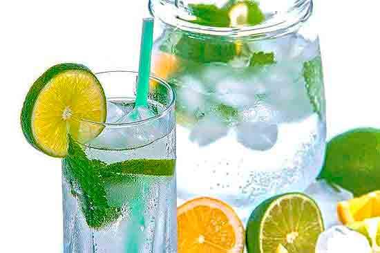 Лимонная вода.