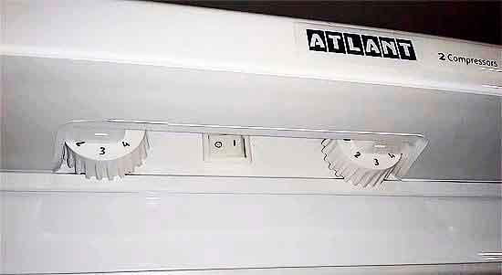 Настройка температуры в холодильнике ATLANT.