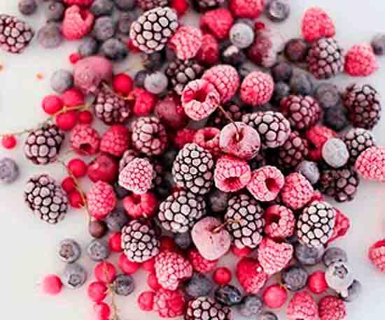 Замороженные ягоды.
